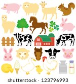 alpaca,animal,barn,bottle,can,cattle,cheese,chick,chicken,chipmunk,clover,country,cow,cowshed,cream
