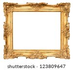 old golden frame. beautiful... | Shutterstock . vector #123809647