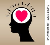 love concept with human head.... | Shutterstock .eps vector #123815347