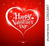 happy valentine's day lettering ... | Shutterstock .eps vector #123831847