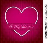 sticker heart valentine's day... | Shutterstock .eps vector #123860323