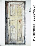 The Old Door With Cracked Pain...