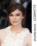 Keira Knightley arriving the UK premiere of Anna Karenina at Odeon Leicester Square, London. 05/09/2012 Picture by: Alexandra Glen - stock photo