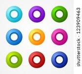 vector web buttons pack | Shutterstock .eps vector #123909463