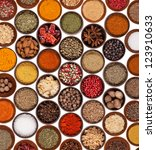 Various Kinds Of Spices On...