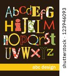 alphabet design. vector... | Shutterstock .eps vector #123946093