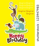 happy birthday card design.... | Shutterstock .eps vector #123947983