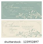 invitation cards in an old... | Shutterstock .eps vector #123952897