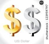 3d golden   silver us dollar...