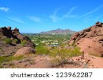 view of scottsdale  arizona... | Shutterstock . vector #123962287