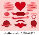 Set Of Valentine's Day Ribbons...