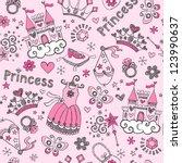 seamless pattern fairy tale... | Shutterstock .eps vector #123990637