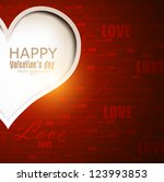 gift card. valentine's day.... | Shutterstock .eps vector #123993853