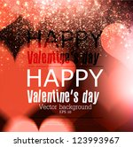 elegant  red billboard  with... | Shutterstock .eps vector #123993967