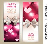 beautiful greeting cards with... | Shutterstock .eps vector #123994033