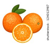 Three Oranges Isolated On Whit...