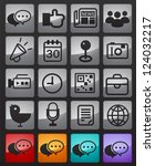 social media icon | Shutterstock .eps vector #124032217