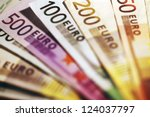 Background Of Euro Bills....