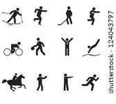 a set of sports icons | Shutterstock .eps vector #124043797