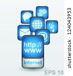 web site and internet icons set.... | Shutterstock .eps vector #124043953