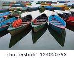 The Boats In Phewa Lake  Nepal