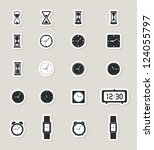 Clock Web Icons Set. Paper...