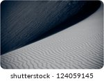 Sand desert dunes - stock photo