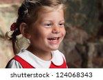 beautiful little girl in the... | Shutterstock . vector #124068343