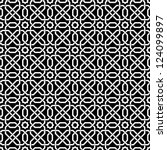 islamic seamless pattern.... | Shutterstock .eps vector #124099897