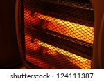side view electric heater... | Shutterstock . vector #124111387