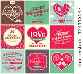 collection of retro vintage... | Shutterstock .eps vector #124113547
