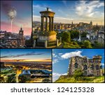 Postcard from Edinburgh in summer - stock photo