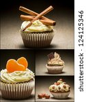 Collage of different types of muffins no. 6 - stock photo