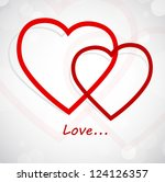 background with hearts | Shutterstock .eps vector #124126357