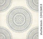 vintage mandala ornament on... | Shutterstock .eps vector #124126813