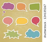 retro speech bubbles on the... | Shutterstock .eps vector #124135267