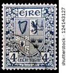 ireland   circa 1922  a stamp... | Shutterstock . vector #124143127