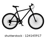 mountain bike illustration | Shutterstock .eps vector #124145917