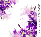 floral abstract purple | Shutterstock . vector #124156003