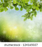the beautiful backdrop of grass ... | Shutterstock . vector #124165027