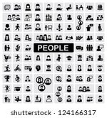 Vector Black People Icons Set...