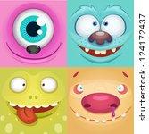 vector monsters | Shutterstock .eps vector #124172437