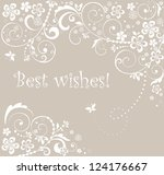 wedding card. raster copy of... | Shutterstock . vector #124176667