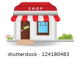 shop. vector illustration | Shutterstock .eps vector #124180483