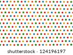 texture with multicolor stars... | Shutterstock . vector #124196197