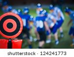 football sideline marker - stock photo