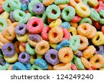 Colorful cereal - stock photo