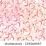 abstract background with hearts | Shutterstock .eps vector #124264447