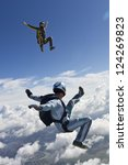 skydiving photo. | Shutterstock . vector #124269823