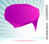 abstract origami speech bubble... | Shutterstock .eps vector #124269937